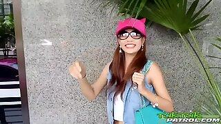 Very Skinny Thai Girl banged by the white man