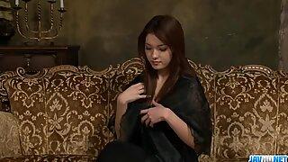 Perky tits Mei Haruka shows off while masturbating?