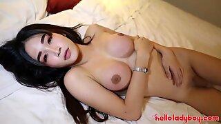 HELLOLADYBOY Thai Beauty Takes Pride In Her Cock Sucking Skills