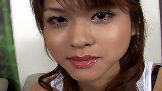 Dirty Japanese brown head slut Akira Shiratori serves her punjani for an intensive stimulation