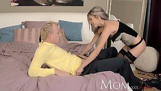 MOM Blonde milf needs to taste some after dinner meat