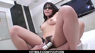 Chizuru keeps the legs wide open for the tasty dong - More at Japanesemamas.com