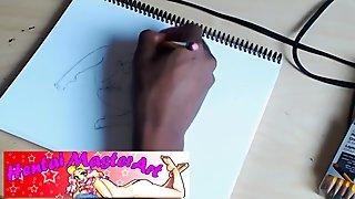 Horny Hentai Brunette Zhaddie Grey Cumming Speed drawing