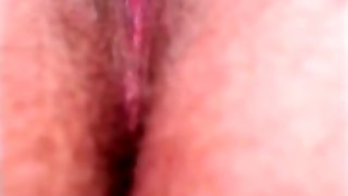 Wet hairy pussy moaning and cuming