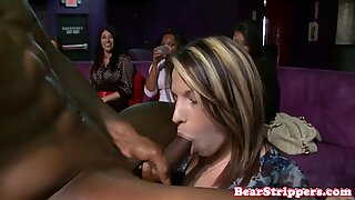 Housewives throating stripper cocks at party