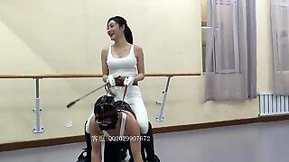 Hostess riding shoes, riding slaves