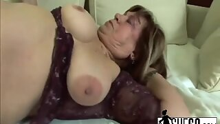 Granny With Slippery Pussy Gets Fucked By Younger Stud