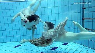 Anna Netrebko and Lada Poleshuk underwater lesbos
