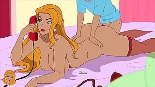 Milftoon Drama - Gloria in her lingerie