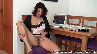 eyeing porno ignites grandma's lust