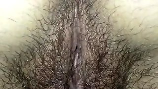 Mypetwife makes her hairy pussy fart