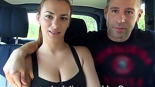 Heavenly Hannah Sweet fucks in the back seat