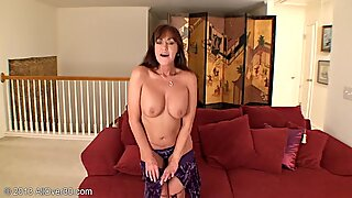 Dildo In Horny Housewife's Pussy