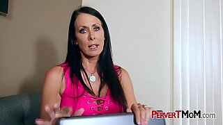 Busty MILF is ready to blow her stepson s huge dick today.