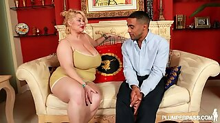BBW Samantha 38G sucks Horny Black Fan