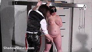 Bullwhipped bbw masochist Nimues spanking to tears
