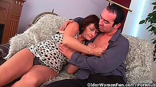 Grandma With Hairy Pussy Lets Him Unload His Cock On Her Face