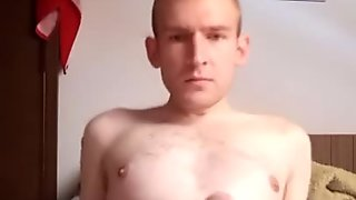 Huge Hungarian cock, This guy wanking
