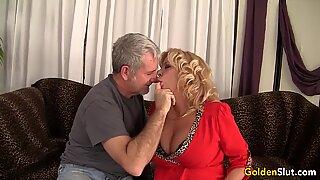 Old Man Screws Blonde GILF Karen Summers